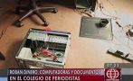 Roban equipos de cómputo de Colegio de Periodistas de Lima