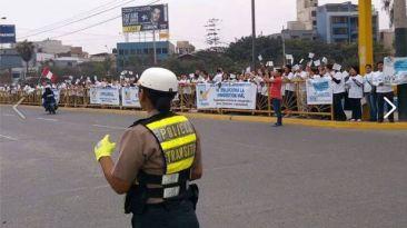 Surco: protestan por túnel entre Benavides y Panamericana Sur