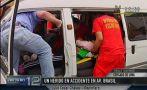 Jesús María: tres heridos deja accidente en la Av. Brasil