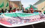 Marcha por Gregorio Santos: manifestantes llegaron a Trujillo