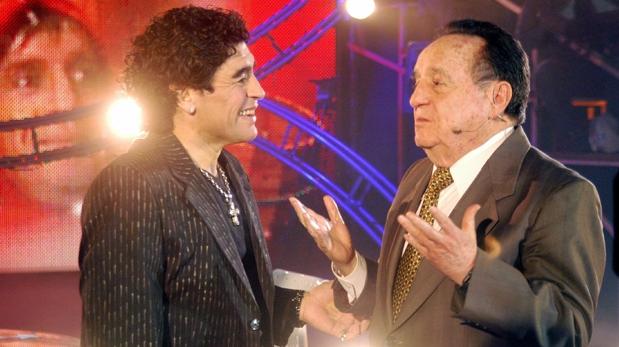 Chespirito y Maradona: el día que Diego entrevisó a su ídolo