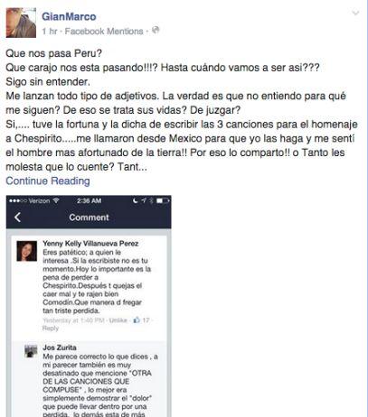 [Foto] Gian Marco respondió a críticas por sus canciones a Chespirito