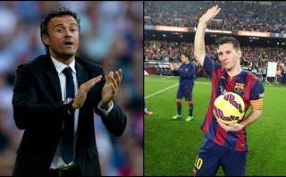 Luis Enrique cree que Lionel Messi merece ganar el Balón de Oro