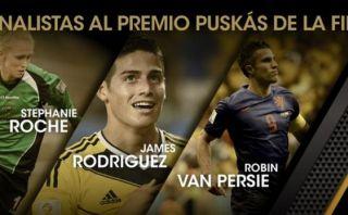 Premio Puskas 2015: James y Van Persie compiten por mejor gol
