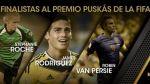 Premio Puskas 2015: James y Van Persie compiten por mejor gol - Noticias de zlatan ibrahimovic
