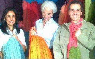 Christine Lagarde visitó hogares del programa Haku Wiñay