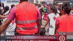 Mesa Redonda: poca seriedad en simulacro de sismo en galerías - Noticias de simulacro de sismo