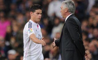 """Carlo Ancelotti: """"James podría jugar si llegamos a la final"""""""