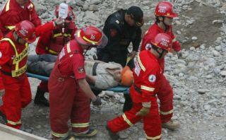 Chorrillos: obreros sepultados por derrumbe fueron rescatados