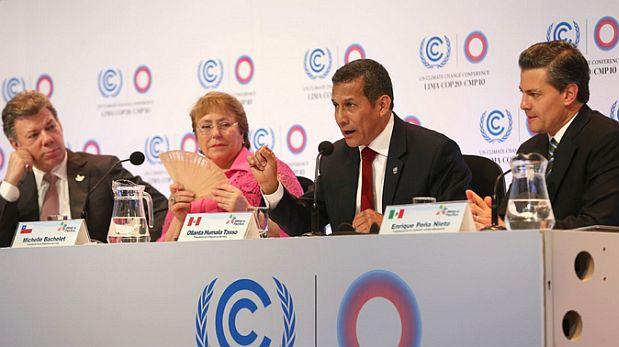 COP20: Alianza del Pacífico actuará contra el cambio climático