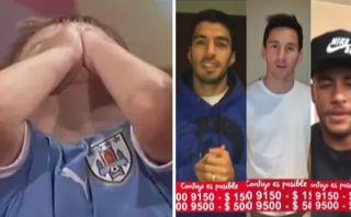 Neymar, Suárez y Messi emocionan a niño uruguayo con mensaje
