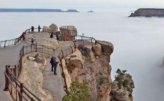 Este extraño fenómeno deleita a visitantes en el Gran Cañón