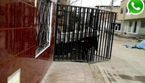 Vía WhatsApp: vecino de VES hizo su cochera sobre la vereda