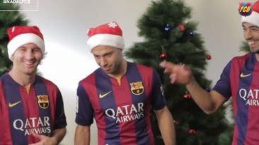 YouTube: Navidad del Barcelona y su divertido detrás de cámara