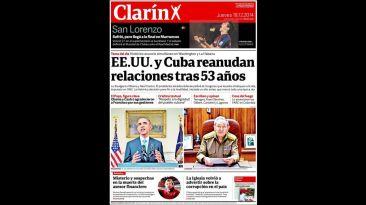 Portadas del mundo destacan acuerdo entre EE.UU. y Cuba