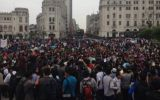 Concentración en Plaza San Martín contra régimen juvenil