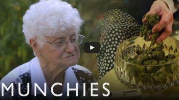 Abuelita conduce primer programa de cocina de marihuana [VIDEO]
