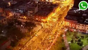 Miles participaron en marcha por nuevo régimen laboral juvenil
