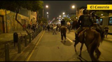 Marcha contra régimen laboral juvenil derivó en actos violentos