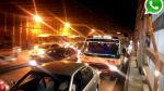 Vía WhatsApp: gran congestión vehicular se vivió en toda Lima - Noticias de tráfico vehicular