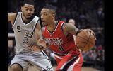 NBA: mira el show de Damian Lillard ante los San Antonio Spurs