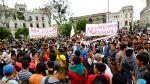 La marcha contra el régimen laboral juvenil en fotos - Noticias de policía de tránsito