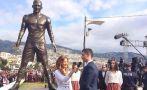 Cristiano inauguró estatua y fue homenajeado en su ciudad natal