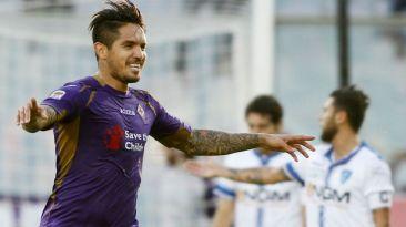 Juan Manuel Vargas anotó golazo para la Fiorentina en Serie A