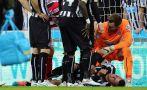 Jugador de Newcastle impactó violentamente contra el arco
