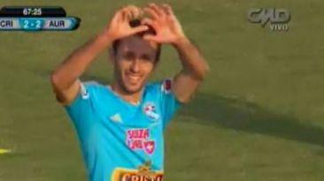 Cristal vs. Aurich: gol de Calcaterra para el 2-2 en Trujillo