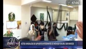 San Marcos: seis agresores del Movadef fueron identificados