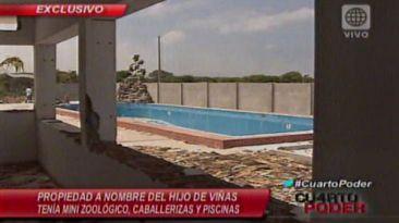 Casa incautada a Gerardo Viñas tiene minizoológico y piscinas