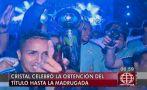 Cristal campeón: celestes celebraron en Lima con sus hinchas