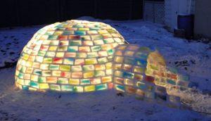 Casa de colores: Mira cómo se construyó este curioso iglú
