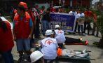 Comerciantes de Las Malvinas participaron de simulacro de sismo