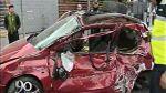 Bus del corredor azul chocó contra auto en Lince - Noticias de accidentes