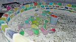 Casa de colores: Mira cómo se construyó este curioso iglú - Noticias de hielos iglú