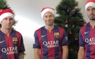 Barcelona: Messi, Suárez, Mascherano y un frío saludo navideño