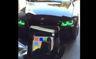Cambia el color de las luces de su auto con un iPad