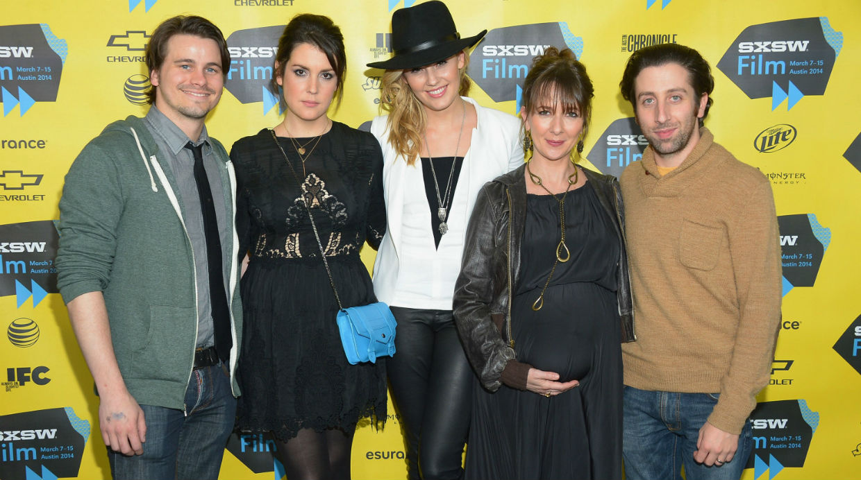 Jason Ritter, Melanie Lynskey, Maggie Grace, co-director Jocelyn Towne, and actor/co-director Simon Helberg attend the 'We'll Ne