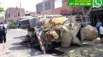 WhatsApp: mezcladora de concreto se hundió en calle de Surco - Noticias de sedapal