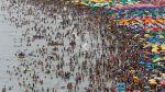 Miles acudieron a Agua Dulce en el primer día del año [FOTOS] - Noticias de limpieza de playas