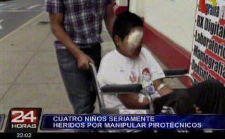 Un menor perdió un ojo al manipular un pirotécnico