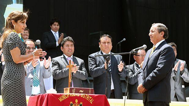 El reelecto alcalde Óscar Benavides ganó con el 34% de votos el 5 de octubre. (Andina)