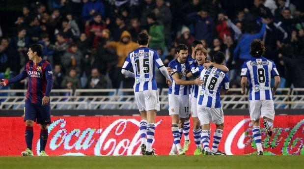 Derrota 0-1 del Barça ante La Real Sociedad