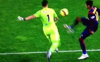 Barcelona: Neymar se ganó amarilla por realizar insólita jugada