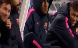 Barcelona: Messi y Neymar bromearon tras autogol de Jordi Alba