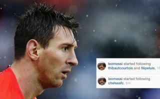 Lionel Messi siguió Instagram de Chelsea en momento complicado