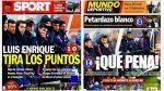 Barcelona: Luis Enrique es el centro de críticas de la prensa - Noticias de andrés iniesta