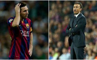 Barcelona: Luis Enrique no desmintió discusión con Lionel Messi